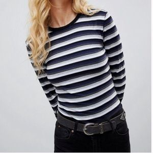 Free People Long Sleeve fitted Top